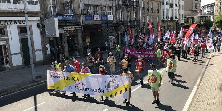 Manifestación en defensa de la universidad pública | CIG