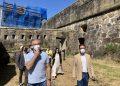 El alcalde, Ángel Mato, visita el castillo de San Felipe    CONCELLO DE FERROL