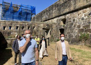 El alcalde, Ángel Mato, visita el castillo de San Felipe  | CONCELLO DE FERROL