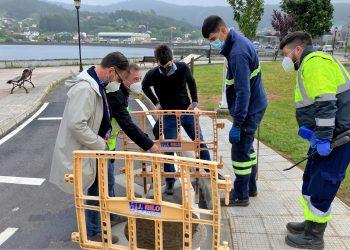 El alcalde de Ferrol, Ángel Mato, y el edil de Urbanismo, Julián Reina, visitaron hoy los nuevos tanques de tormenta