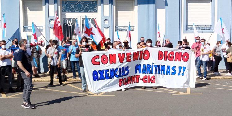 Concentración frente a la sede de la Autoridad Portuaria de Ferrol | CIG