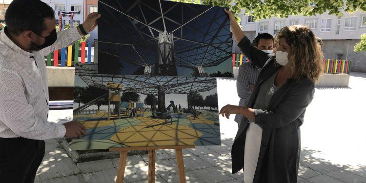 Marián Ferreiro dio a conocer el proyecto que permitirá cubrir la zona con una estructura con forma hexagonal