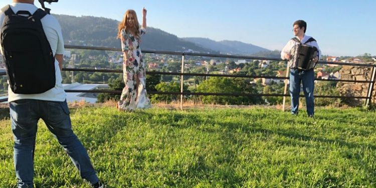Grabación del videoclip en el Baluarte de Canido