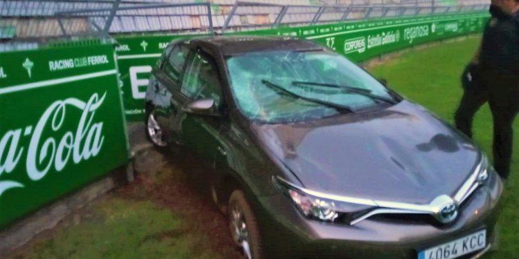 Así terminó el coche tras el accidente   CEDIDA