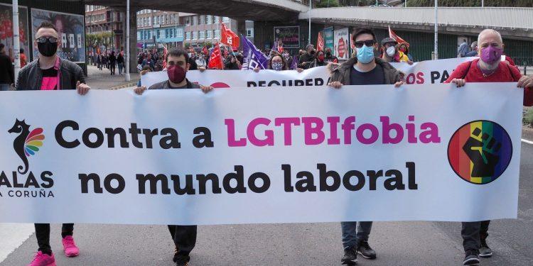 Manifestación de plataformas LGTBI en A Coruña