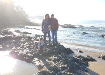 Simone, Joseph y su hija Eva. | CEDIDA