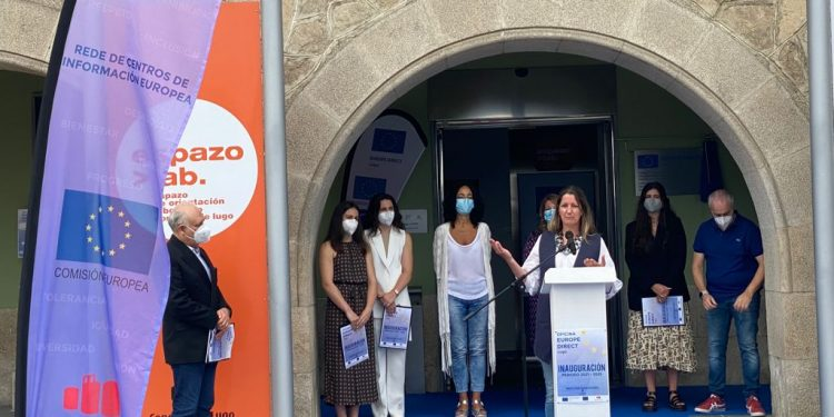 Lara Méndez en el acto de presentación. | CONCELLO DE LUGO