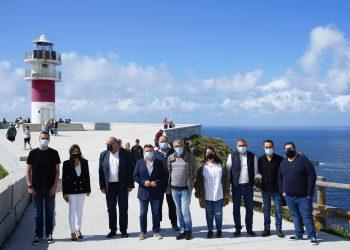 Los representantes políticos aprovecharon la visita para hacer una primera toma de contacto con el territorio, comenzando por Cabo Ortegal.