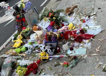 Imagen del altar de Samuel dañado el jueves por la tarde