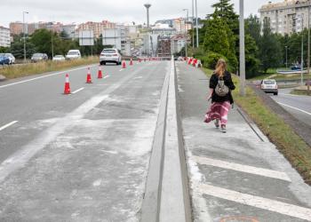 Obra de la senda peatonal entre Matogrande y O Birloque   CONCELLO DA CORUÑA