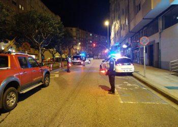 Control de la Policía Local en Lugo. | EUROPA PRESS