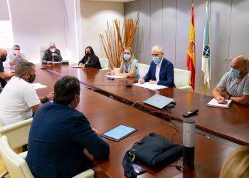 El vicepresidente económico de la Xunta, Francisco Conde, se reunió hoy con el grupo de trabajo para una transición justa de As Pontes | XOÁN CRESPO / E.P.