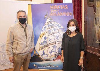 El director de Viñetas desde o Atlánitco y la alcaldesa de A Coruña, Inés Rey, presentan la cita   AYUNTAMIENTO DE A CORUÑA