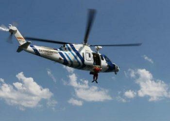 El helicóptero Pesca 2 fue el encargado de realizar el rescate