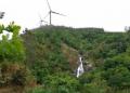 Recreación del parque eólico de Caaveiro en el entorno del Belelle