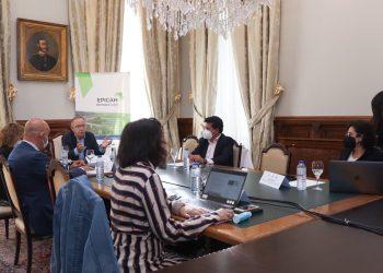 El Pazo de Raxoi acoge la reunión del proyecto liderado por Eixo Atlántico EPICAH   CONCELLO DE SANTIAGO