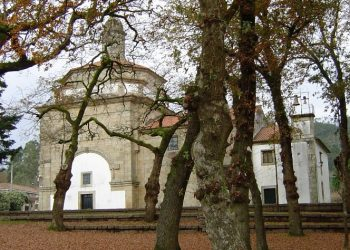Capilla de Santa Minia, donde se encuentran las reliquias de la Santa.