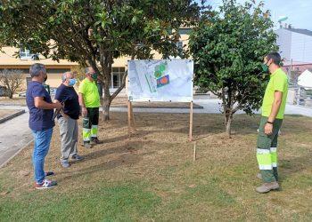 Representantes del gobierno local presentaron el proyecto del nuevo parque.   CONCELLO DE VILALBA