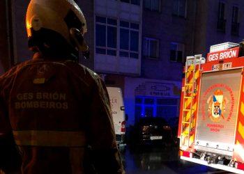 Intervención del GES de Brión en un fuego en O Milladoiro | CONCELLO DE BRIÓN