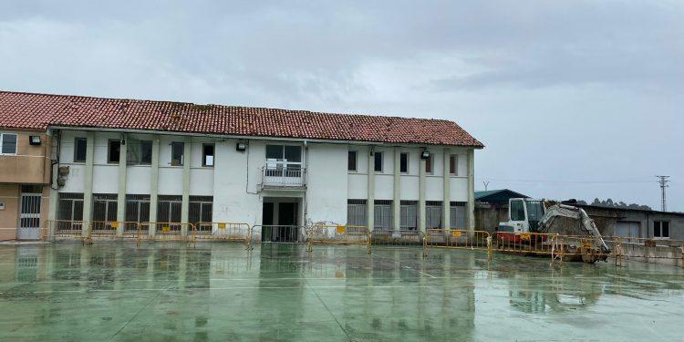 Imagen de las obras de la escuela unitaria   CONCELLO DE PONTEDEUME