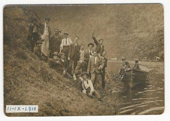 Fotografía da Xira ao Eume tomada o 11 setembro de 1916