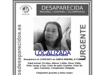 Alerta de Alicia Santalla desactivada   SOS DESAPARECIDOS