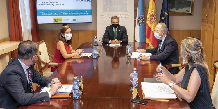 Los alcaldesde Ferrol, A Coruña, Santiago y Lugo se reúnen con el delegado del Gobierno | AYUNTAMIENTO DE A CORUÑA