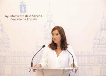 La alcaldesa de A Coruña, Inés Rey, comparece en rueda de prensa   CONCELLO DA CORUÑA