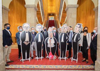 Inauguración da exposición 40 anos de autonomía de Galicia nas caricaturas de Siro López   DAVID CABEZÓN