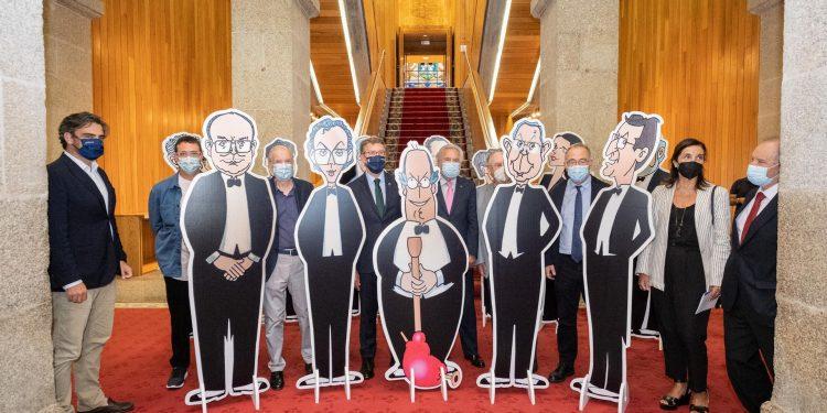 Inauguración da exposición 40 anos de autonomía de Galicia nas caricaturas de Siro López | DAVID CABEZÓN