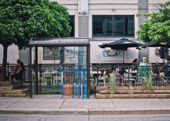 Imagen de archivo de una parada de transporte