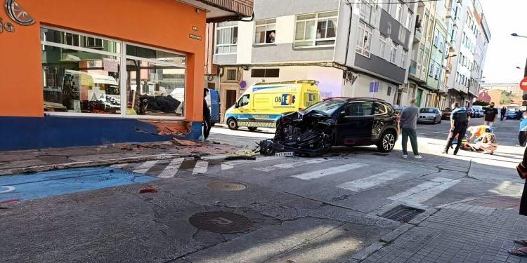 Así quedó uno de los coches implicados en el siniestro | TRÁFICO FERROLTERRA
