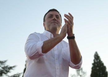 Valentín González eligió As Pontes, donde gobierna desde 2007, para presentar oficialmente su candidatura