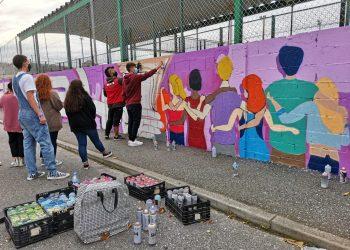 Mural por la igualdad en Cedeira